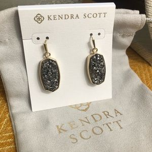 Kendra Scott Danay Earrings Gold/Platinum Drusy